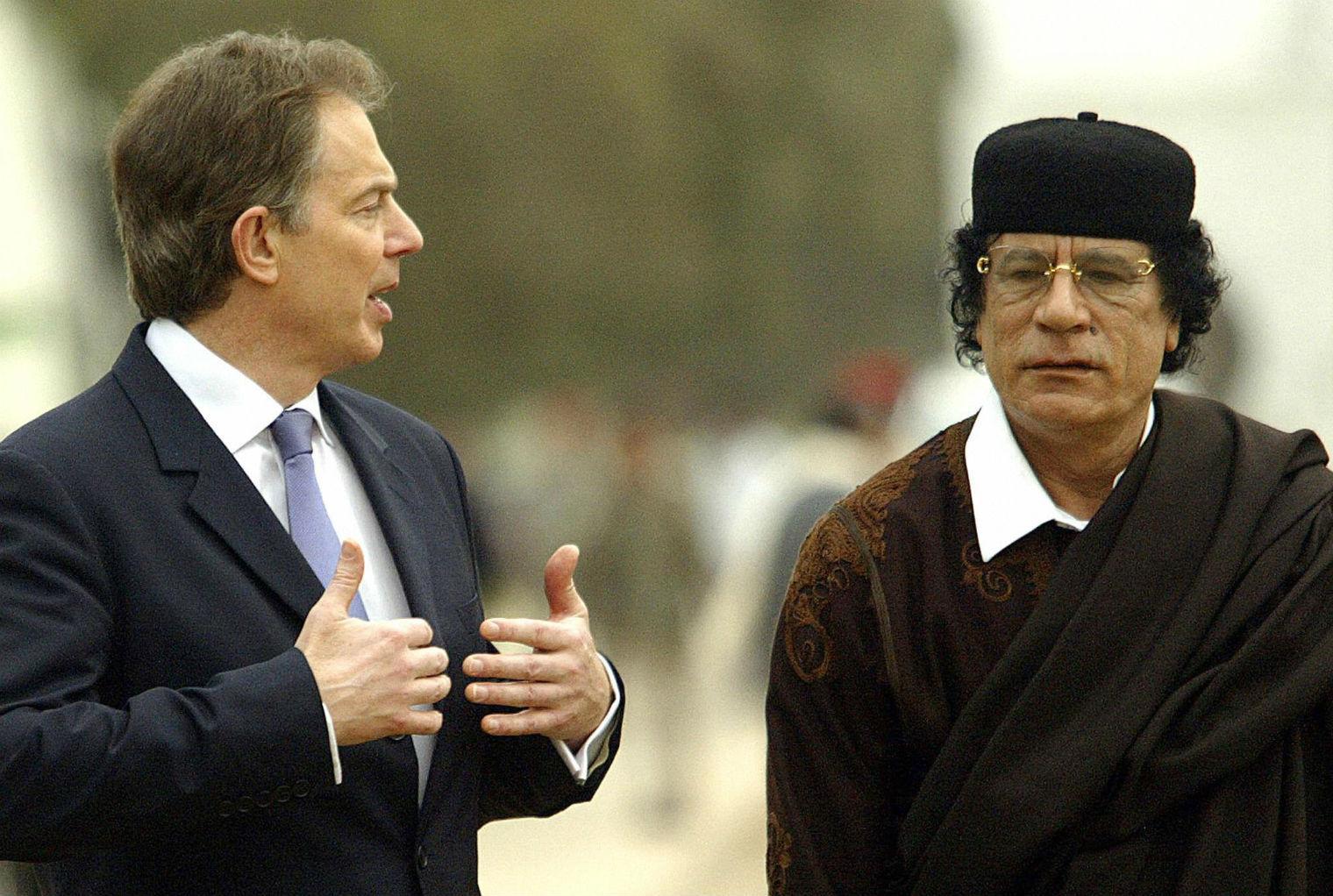 Image result for tony blair gaddafi