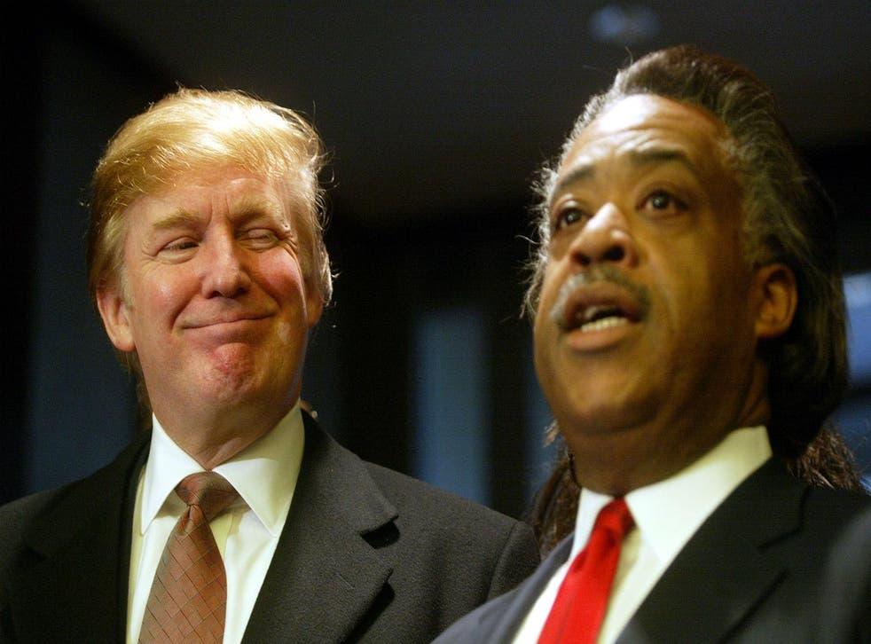 Donald Trump and the Rev Al Sharpton. Picture: Mario Tama/Getty Images