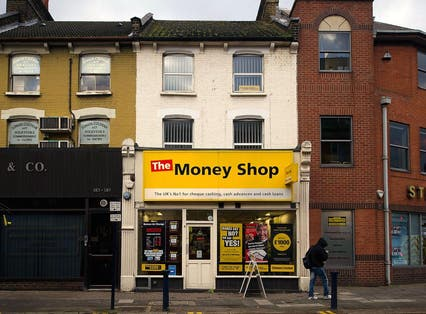 A Pay day loans shop in Walthamstow high street