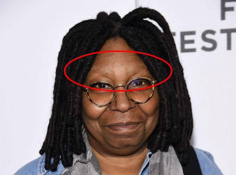 Whoopi eyebrows goldberg no does have why Ever noticed