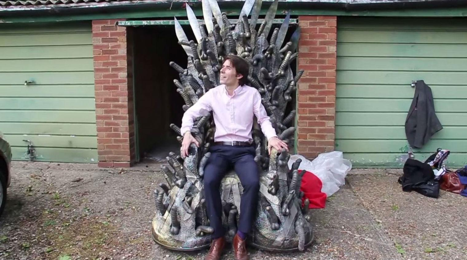 This man is trying to sell a dildo chair inspired by