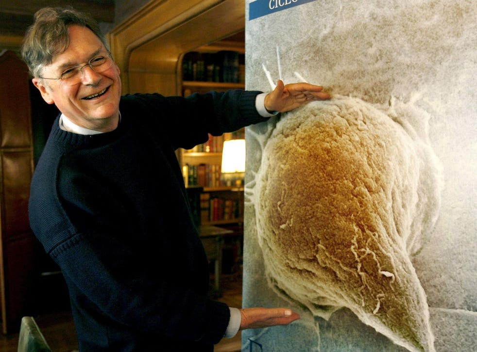 Sir Tim Hunt, winner of 2001 Nobel Prize for Medicine and Physiology