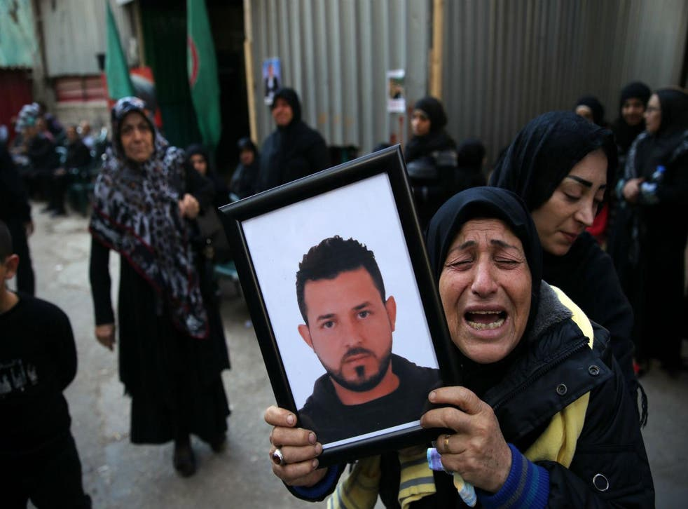 A woman mourns a relative killed in last week's Beirut bombing