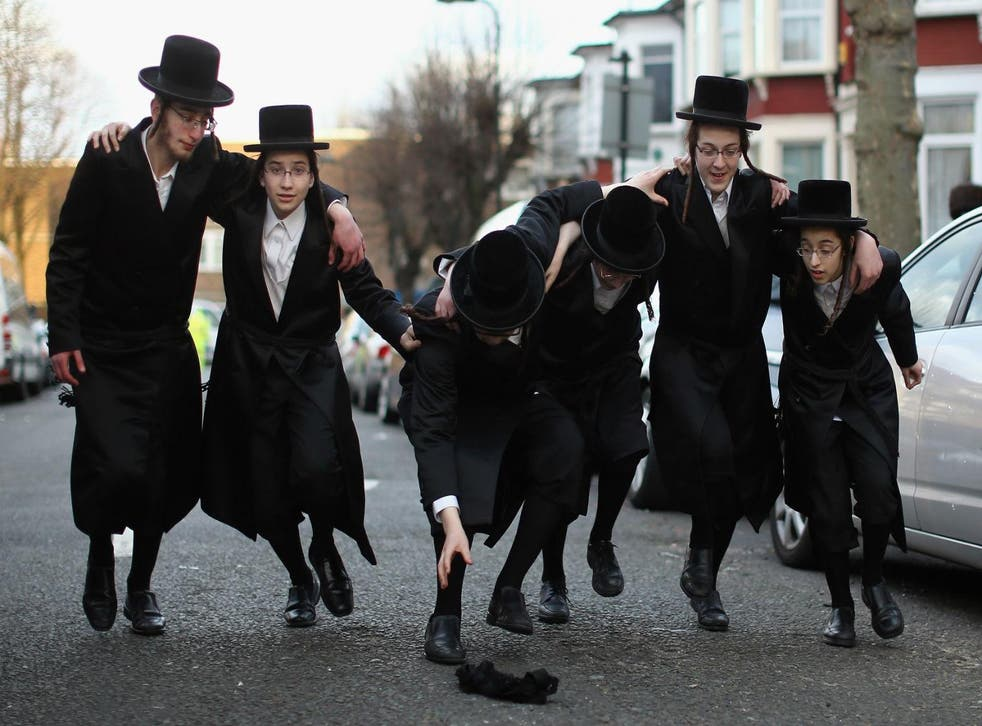 Orthodox Jewish boys celebrating Purim in London on March 5th 2015.  Picture: Dan Kitwood/Getty Images