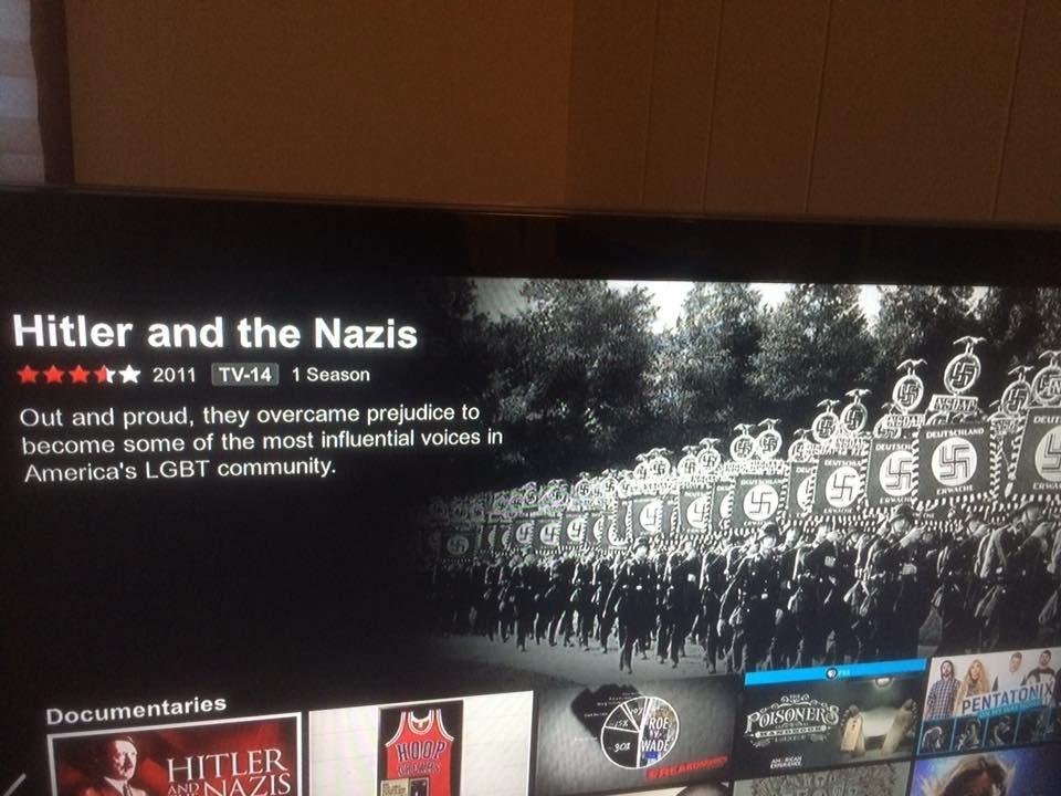 This Netflix glitch in a Hitler documentary description is hilarious