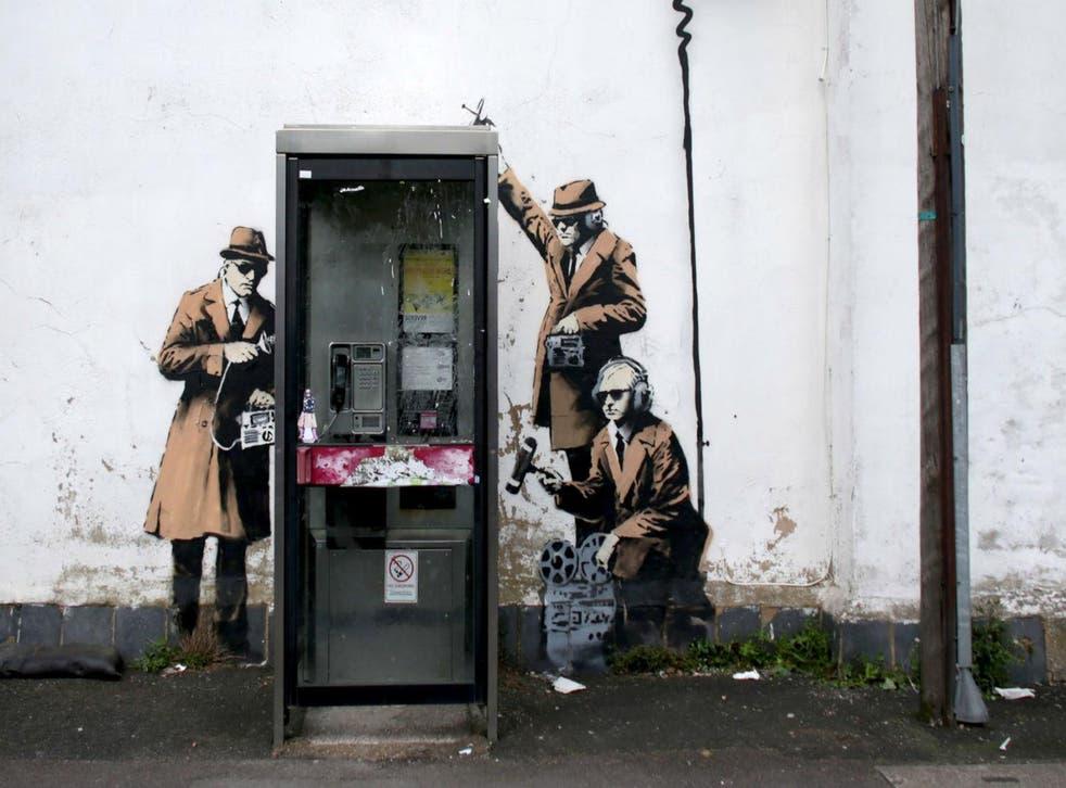Street art in Cheltenham, near GCHQ, attributed to Banksy