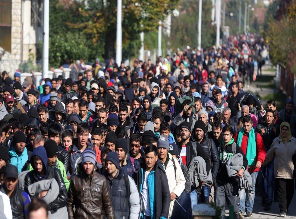Around 2,000 refugees and migrants cross the Croatia-Slovenia border