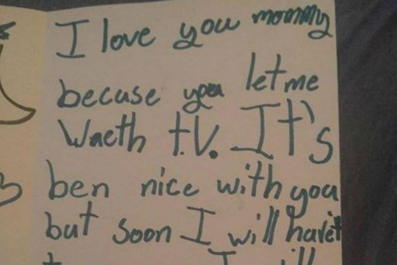 This 7-year-old girl wrote a cold-blooded 'break-up' letter to her