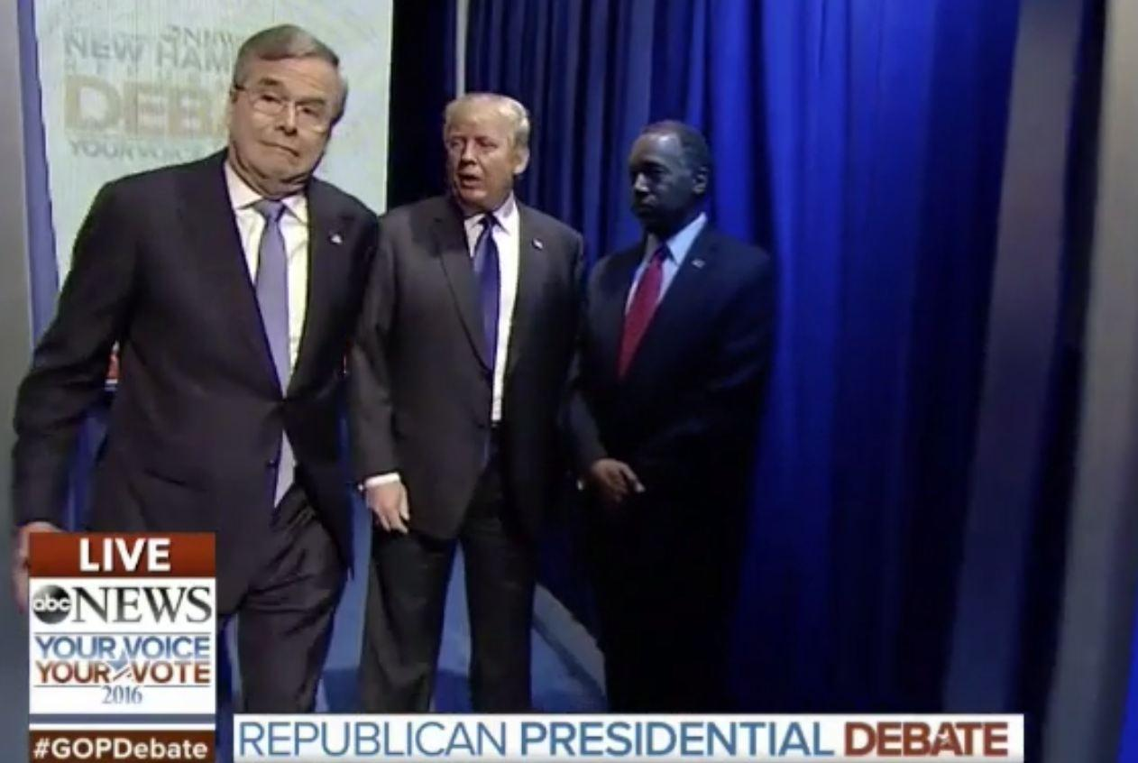Saturday night's Republican debate got off to the most incredibly