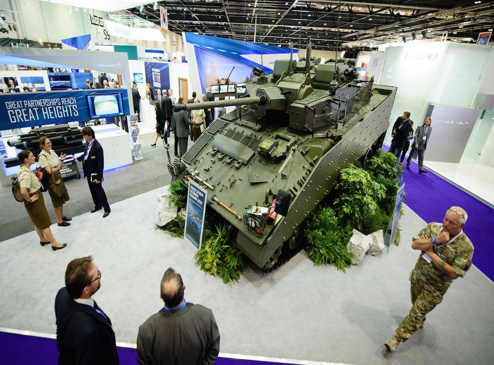 The 2015 DSEI arms exhibition in London