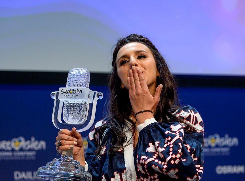 Ukraine's 2016 Eurovision winner Jamala. Picture: MAJA SUSLIN/TT/AFP/Getty Images