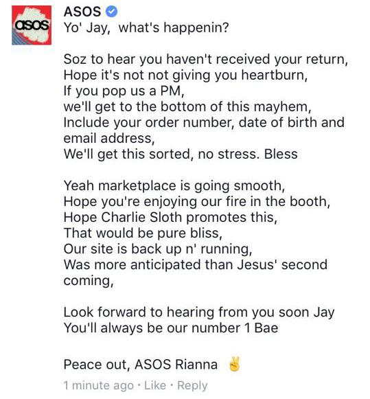 When this man complained using Eminem lyrics Asos let him