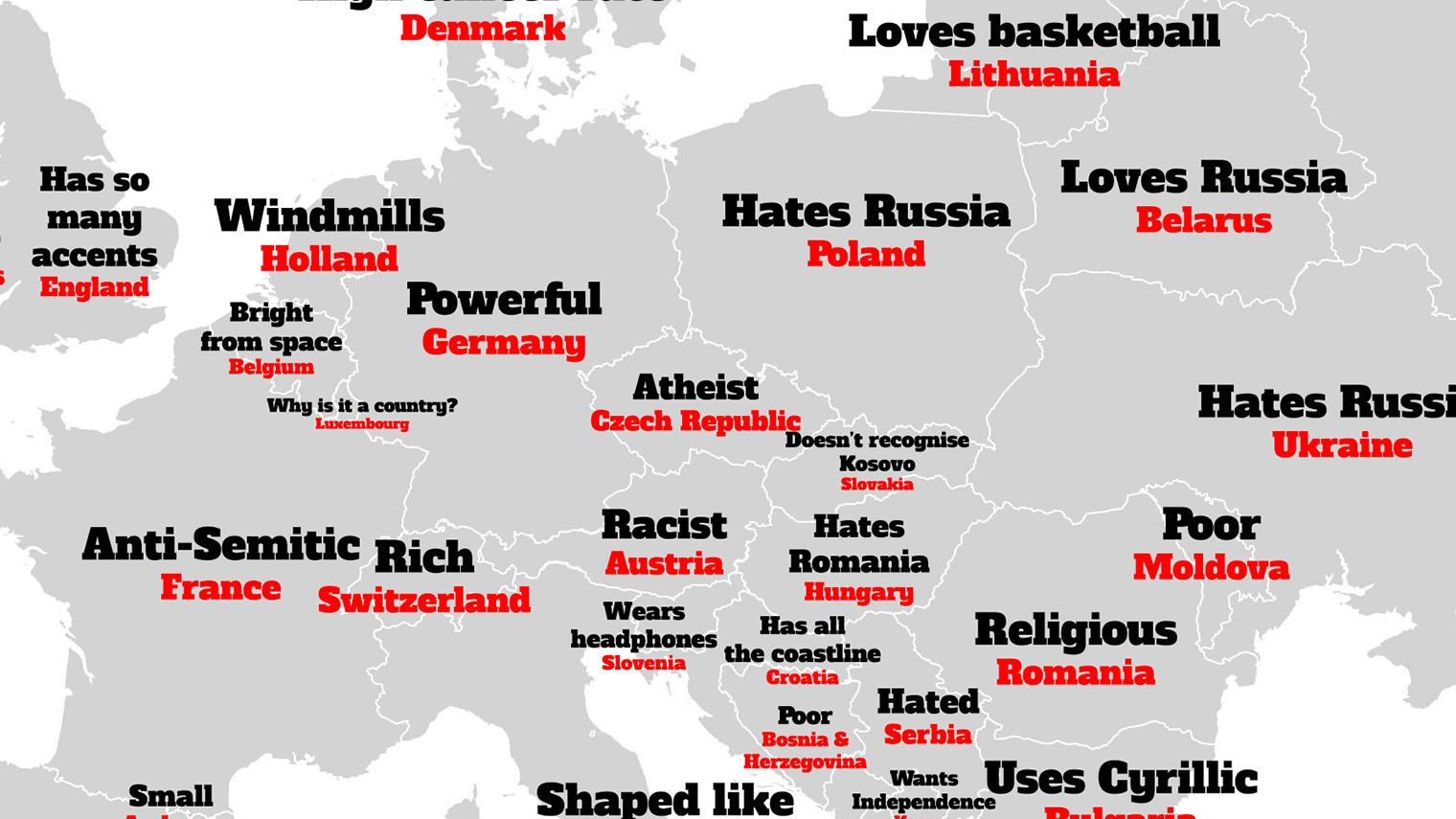 Map Of England Over Usa.The British Stereotype Map Of Europe According To Google Indy100