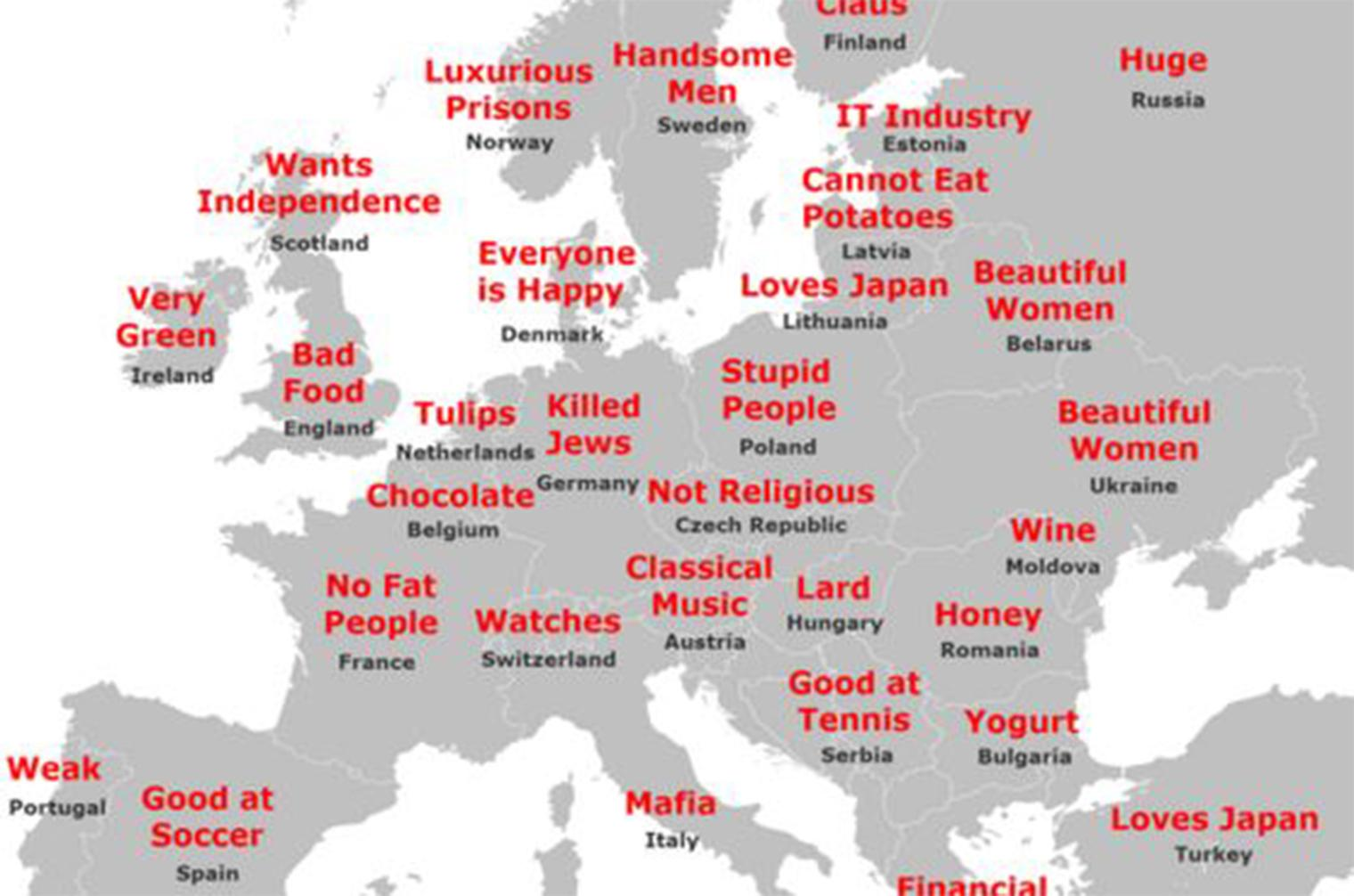 Map Of England Joke.The Japanese Stereotype Map Of Europe Indy100
