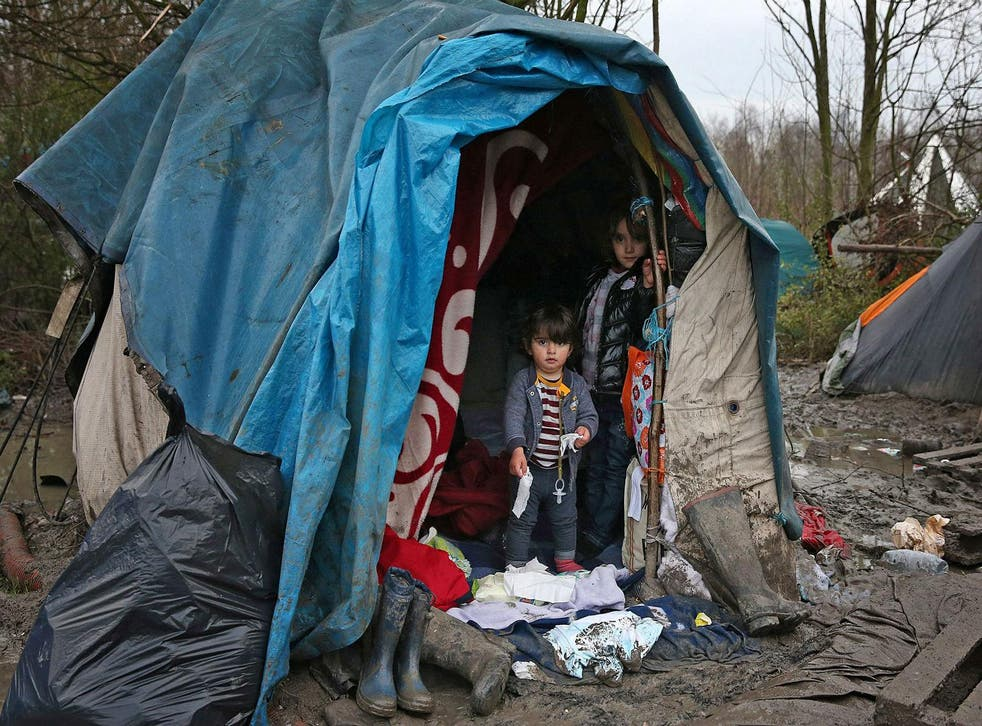 Refugee children on January 6, 2016 in Dunkirk, France Carl Court/Getty Images
