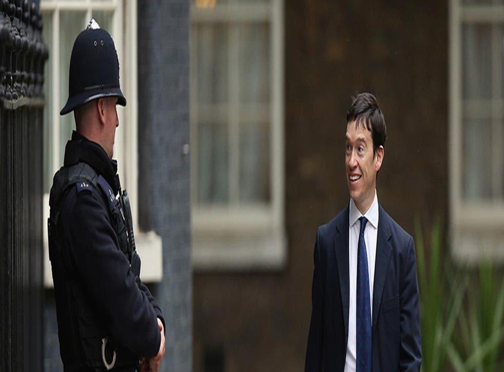 Rory Stewart walking into Downing Street