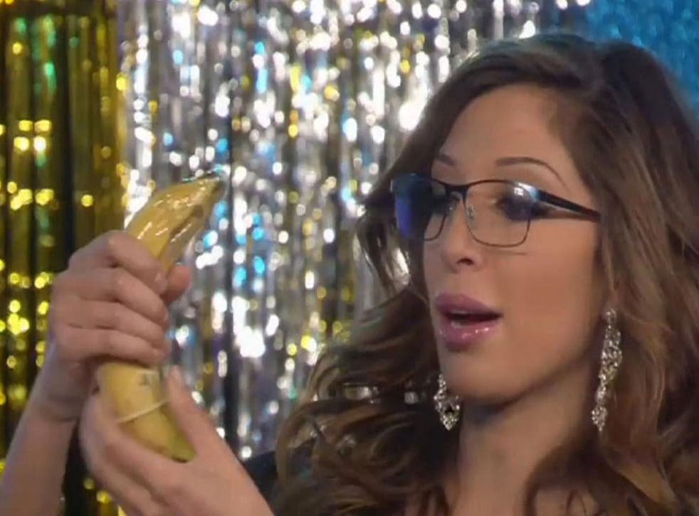 Farrah Abraham demonstrates how to put a condom on in the most recent series of Celebrity Big Brother