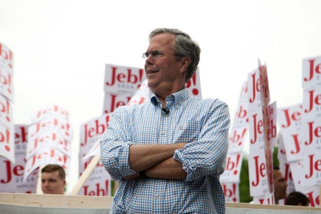 <p>Even Jeb Bush looks surprised by his own comments</p>