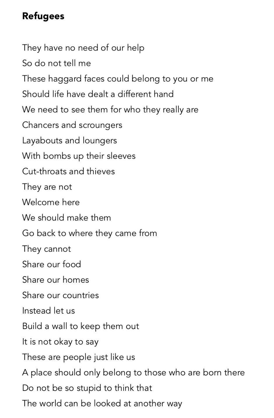 This Dark Poem About Refugees Has A Beautiful Hidden Meaning