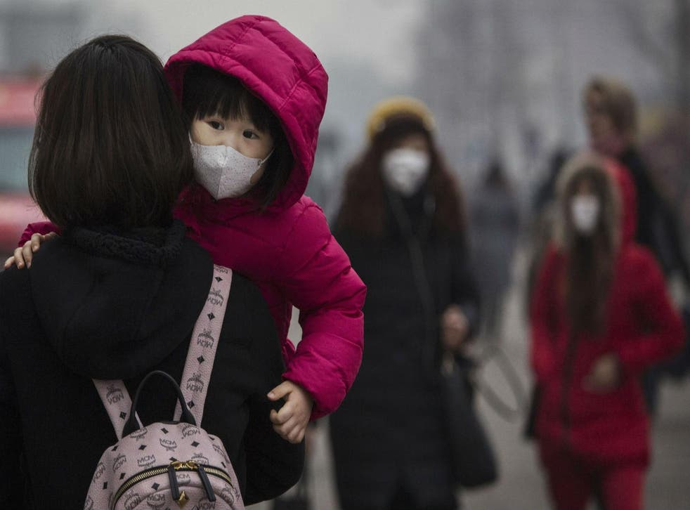 Smog in Beijing hit 'red alert' levels for the first time this week