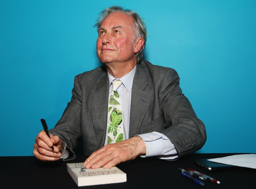 Richard Dawkins, definitely not praying. Picture:  Don Arnold/Getty Images