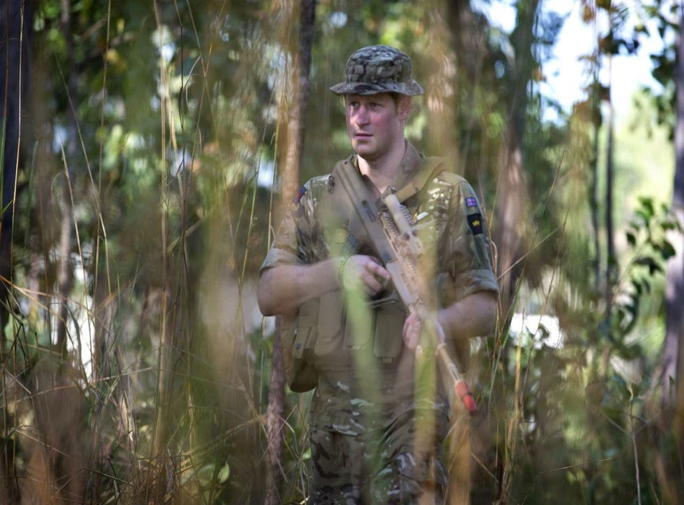Stock photo of Prince Harry on secondment with the Australian Defence Force,  Darwin, April 15 2015.