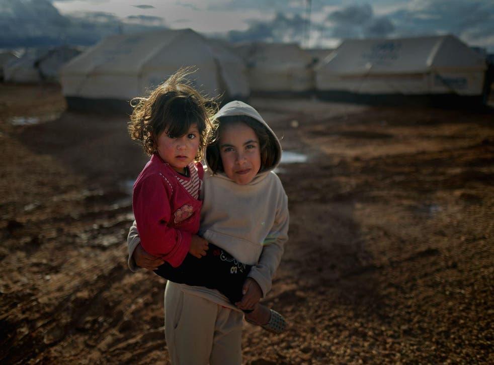 Syrian refugee children at Za'atari refugee camp in Jordan in January  2013.