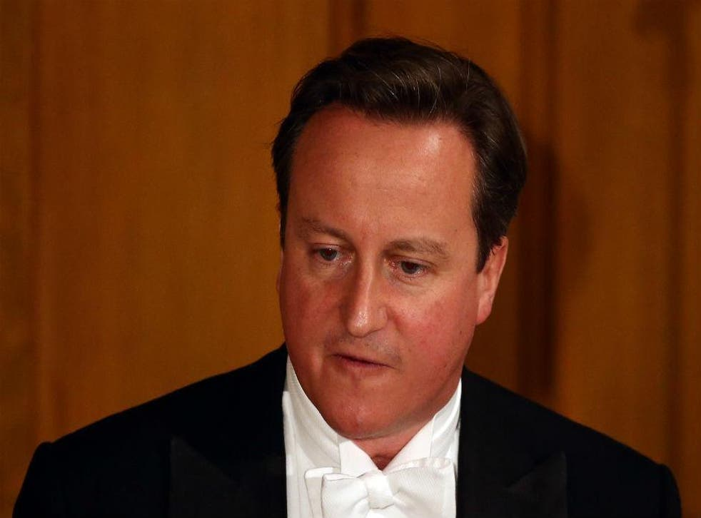 David Cameron pictured at Guildhall