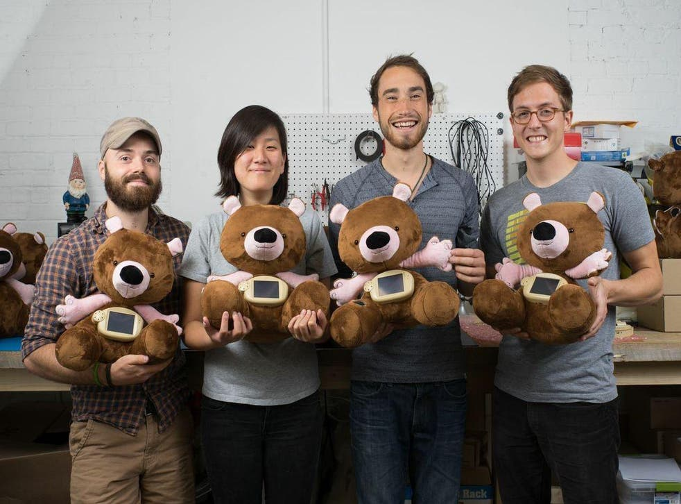 The inventors of Jerry the Bear - a stuffed toy for children with diabetes