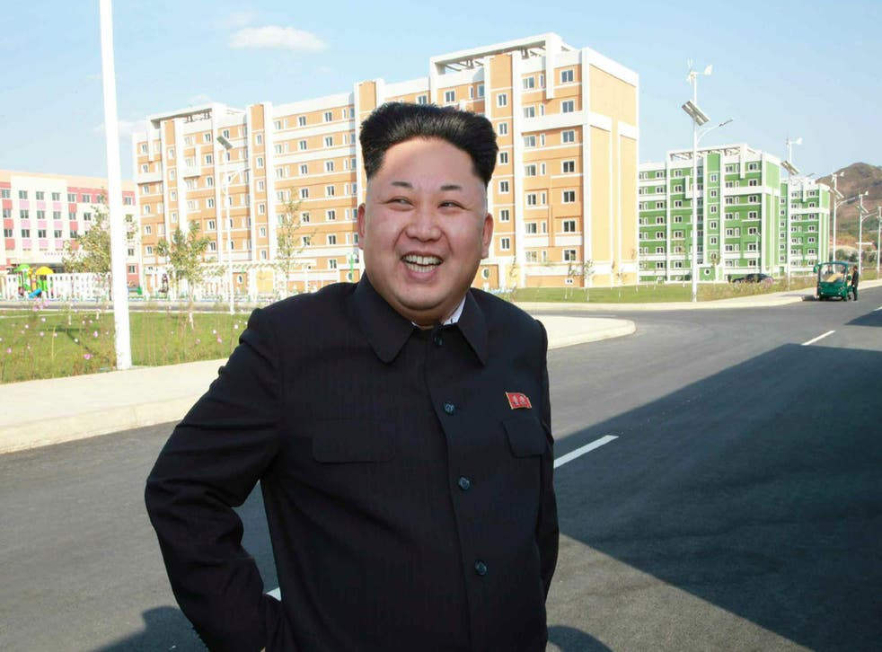 Kim Jong-un at the Wisong Scientists Residential District