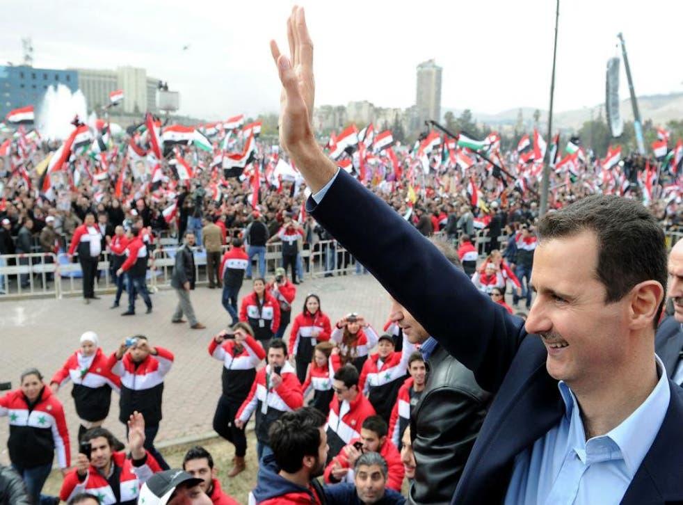 Bashar al-Assad pictured in January 2012