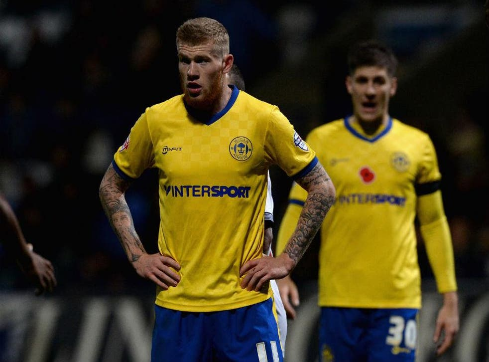James McClean playing for Wigan Athletic last year