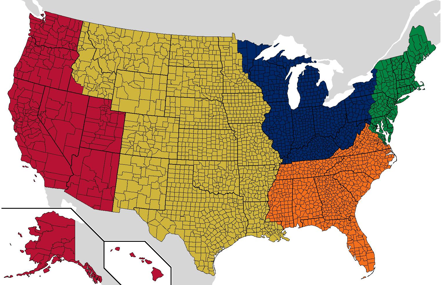 Map Of America By Population.This Map Of America S Regions With The Same Populations As The Uk Is
