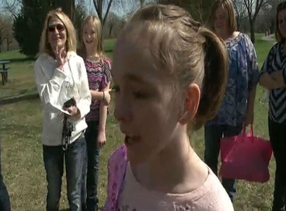 Mackenzie Moretter, 10, was overwhelmed by the response