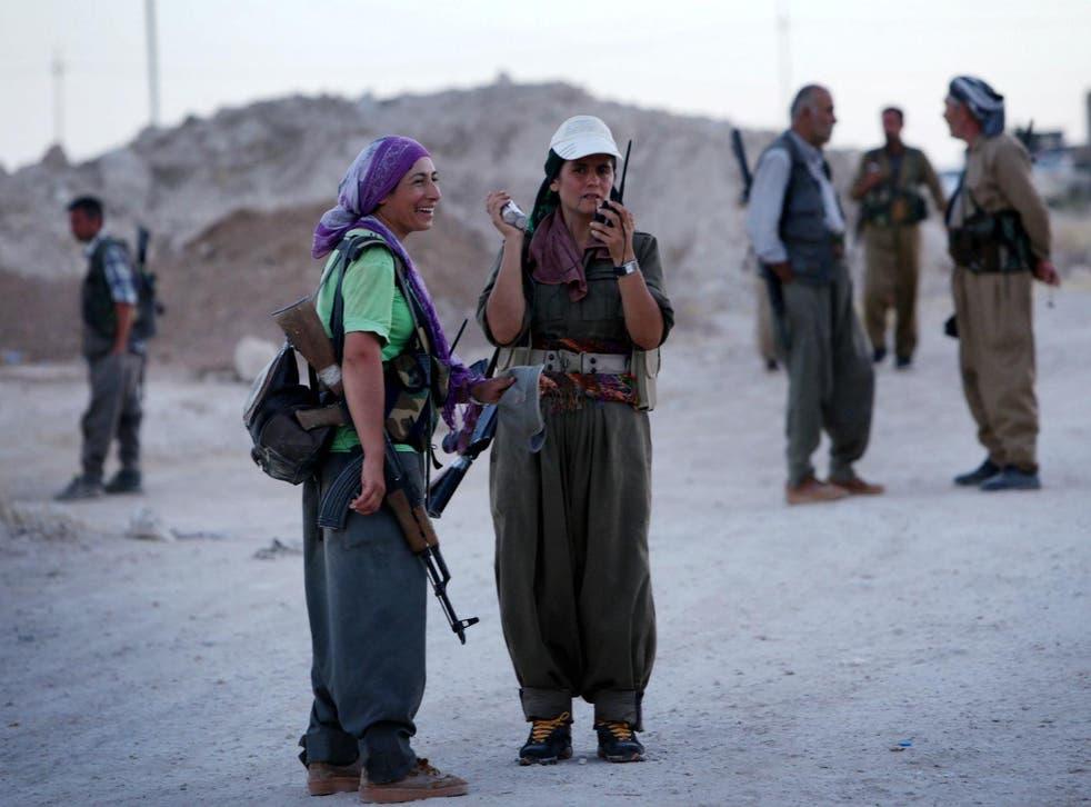 PKK fighters on the frontline near Irbil