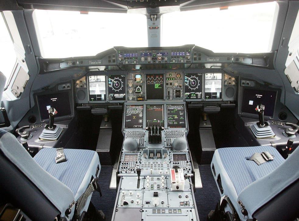 An Airbus cockpit