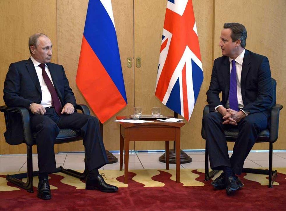Cameron and Putin in June 2014