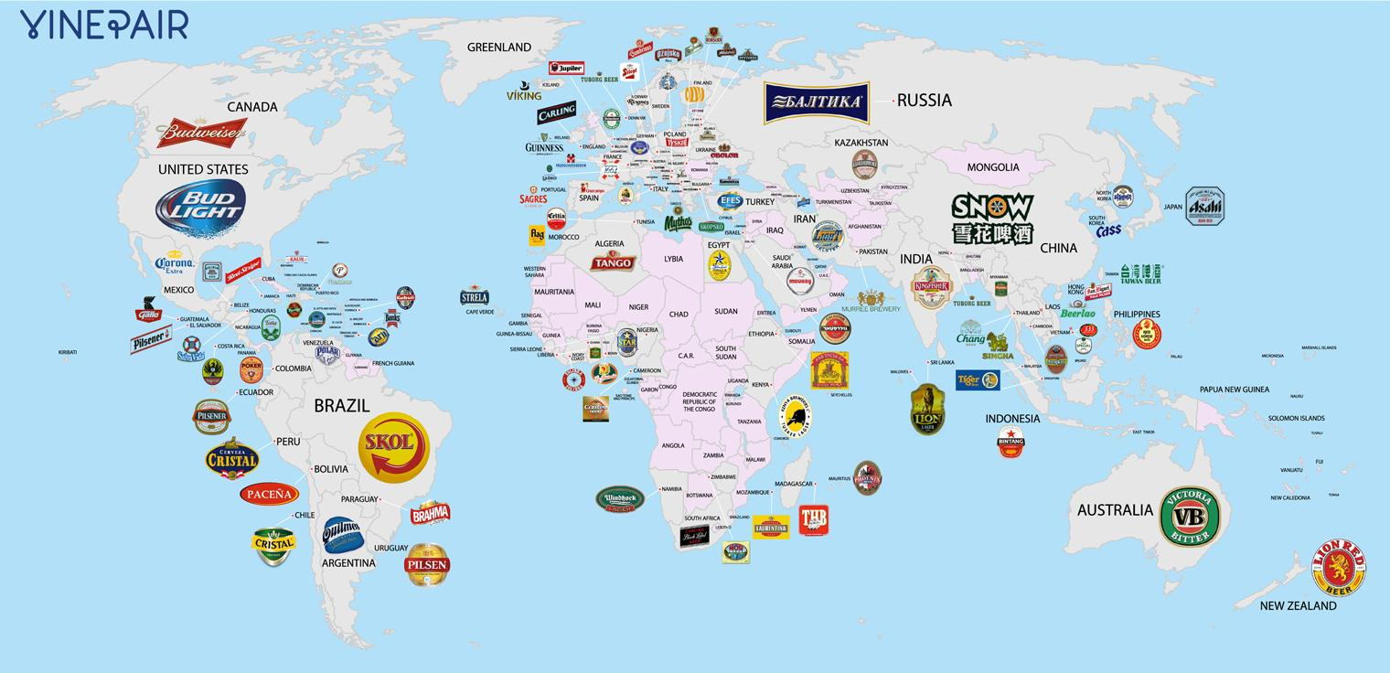 A Map Of The World According To Each Country S Favourite Beer Indy100