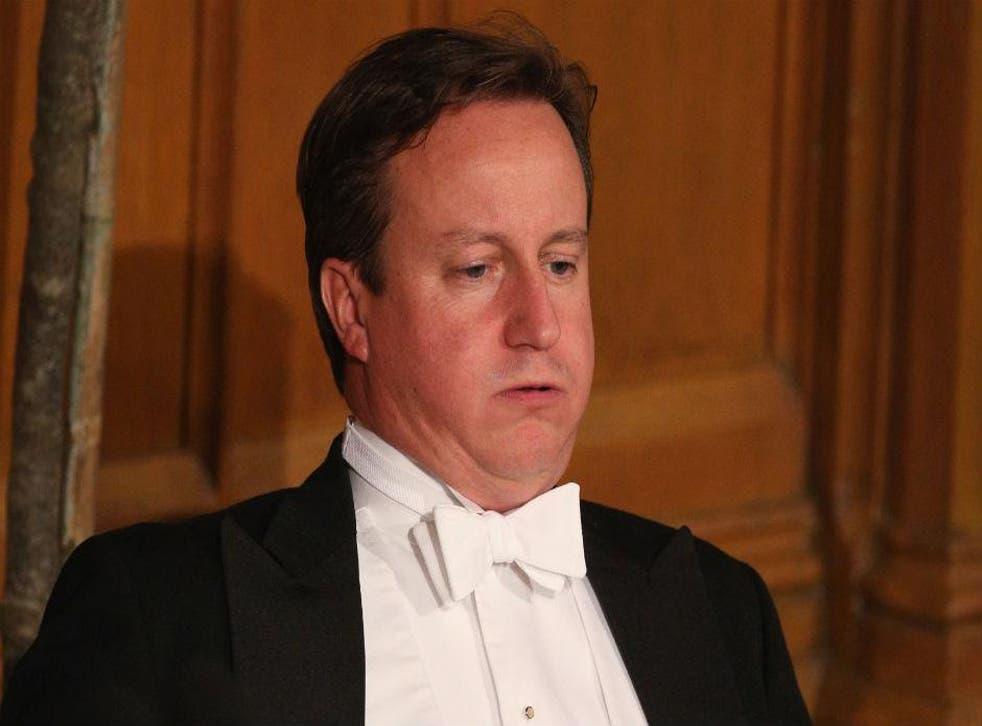 David Cameron at the Lord Mayor's banquet, 2012