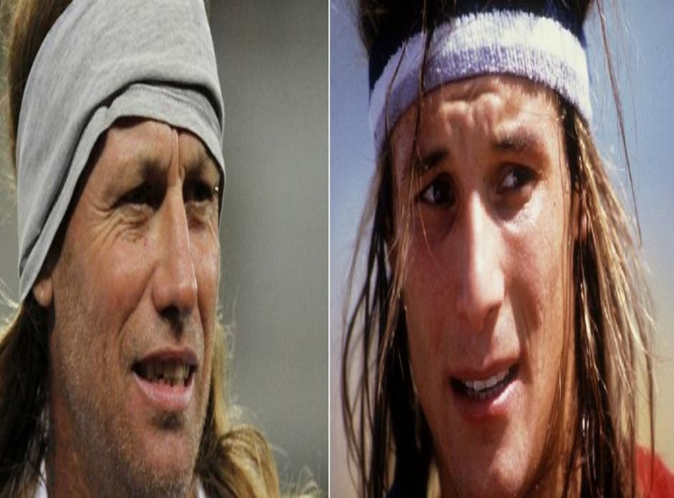 Spot the difference. The real Claudio Caniggia is on the right, Daniel Cordone on the left. Or is it the other way around?