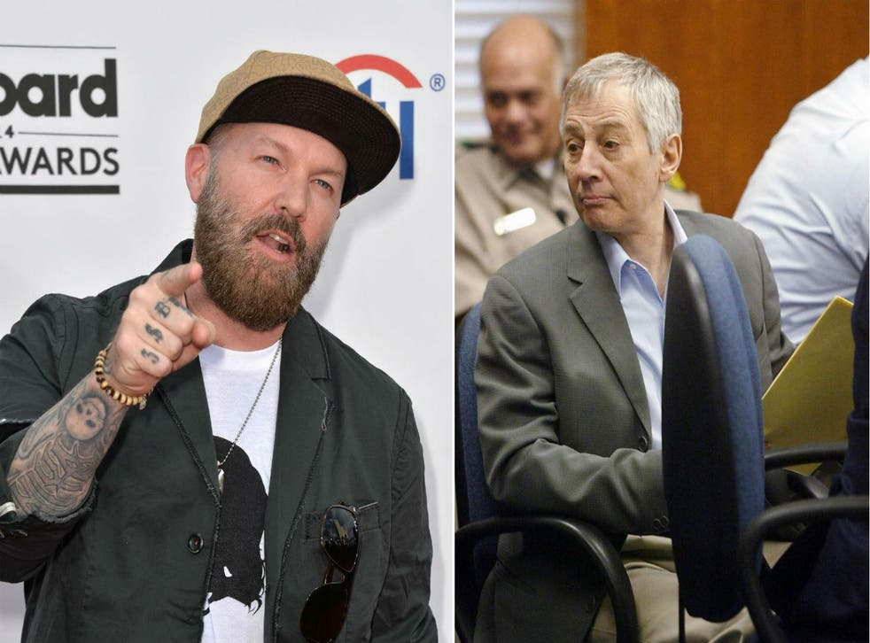Limp Bizkit lead singer Fred Durst (L) and unrelated real estate magnate accused of murder Robert Durst (R) Pictures: Getty