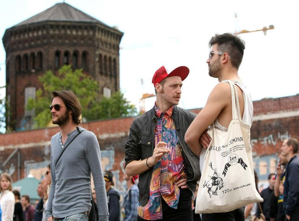 Participants of the Hipster Olympics, Berlin