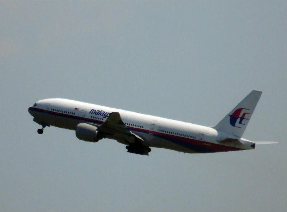 Malaysia Airlines flight MH17 pictured shortly after take-off at Amsterdam's Schiphol airport on Thursday
