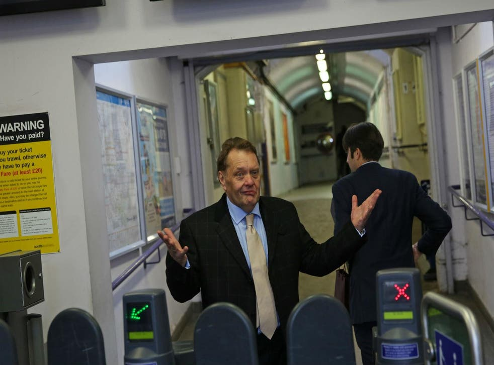 Tory MP John Hayes on his way home