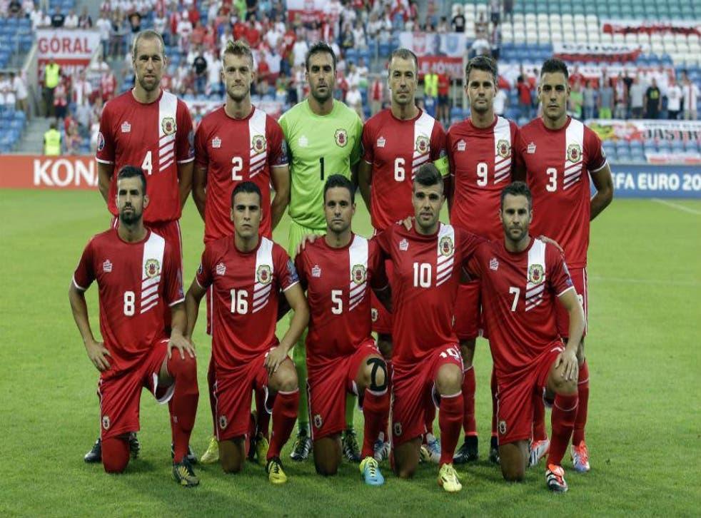 Gibraltar starting XI v Poland