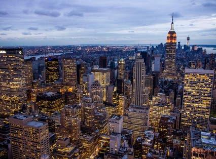 The Manhattan skyline, New York. The United States is still the world's biggest economy according to CEBR