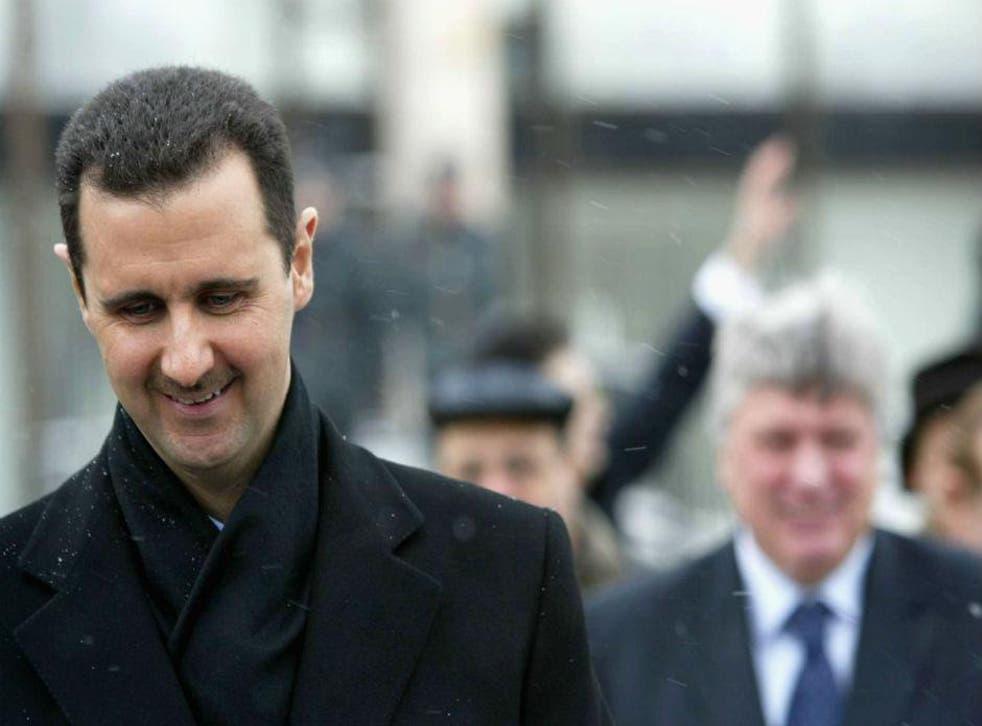 Bashar al-Assad in Moscow, 2009