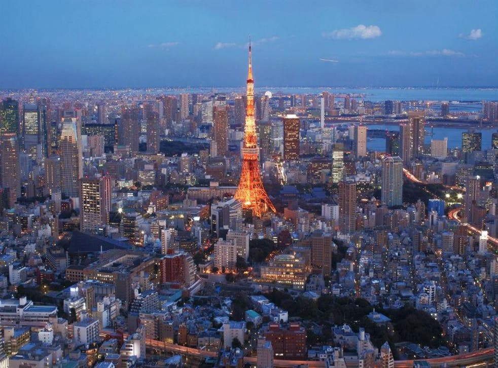 The bright lights of Tokyo
