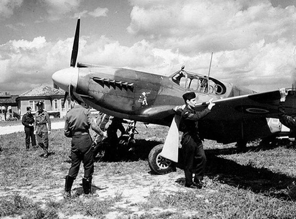 A Mustang aircraft of II (Army Cooperation) Squadron being prepared for a mission over Normandy as part of Operation Overlord