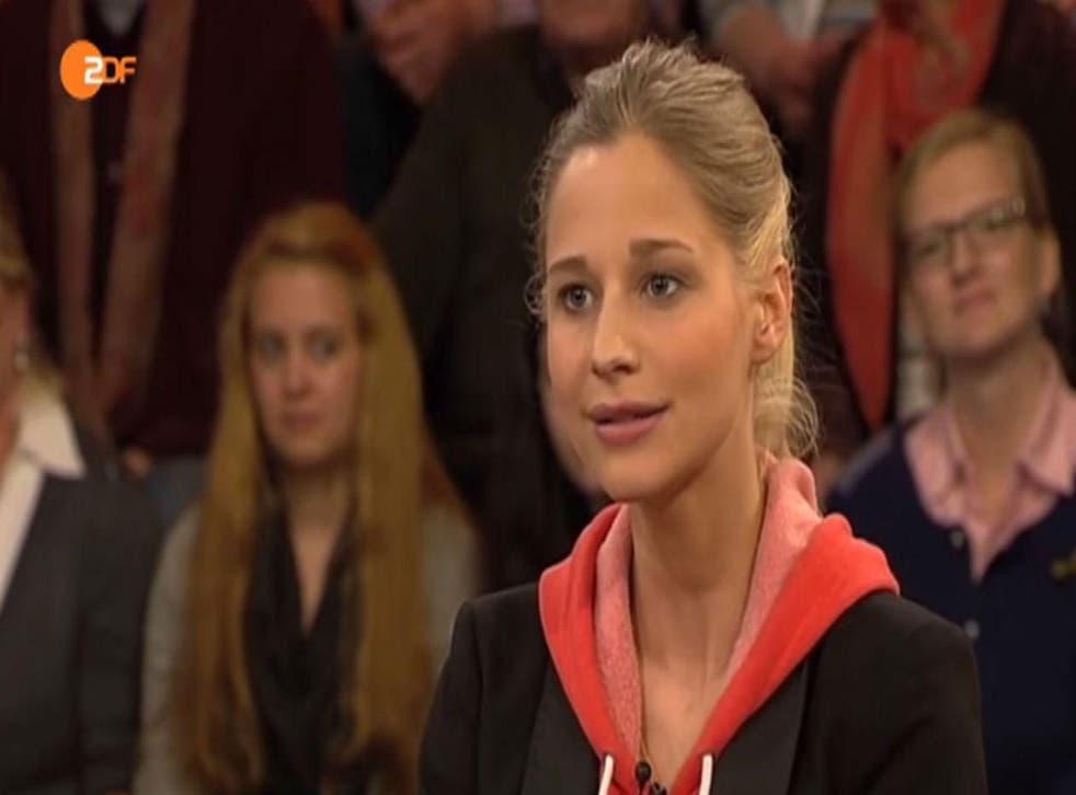 Giulia Enders in an interview on German television